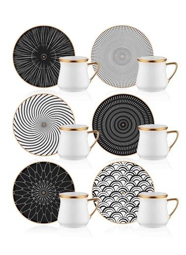 The Mia Hypnos Kahve Fincanı Seti - 6 Kişilik Renkli